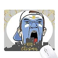 顔のメイクを叫んでアルゼンチンキャップ クリスマスイブのゴムマウスパッド
