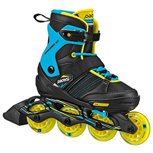 Pacer Explorer Children's Youth Inline Adjustable Skates (boy Large)