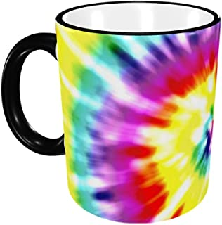 Unique Tye Dye Art Ceramic Coffee Mug Unique Best Gifts Microwave and Dishwasher Safe Funny Tea Cup 12oz