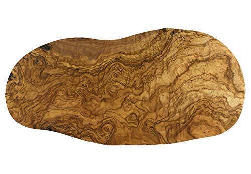 Tramanto Large Rustic Olive Wood Cheese and Serving Board, 20 x 10 Inch