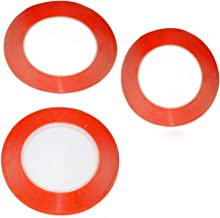 3pcs/Bag 25 Meters Mixed Size 1mm/2mm/3mm/ for 3M Double Sided Tape Sticky Red for Mobile Phone LCD Pannel Display Screen Repair Housing Tablets Digitizer LCD Screen Display Professional Kit