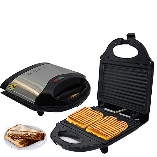750W Smokeless Electric Grill Panini Press Maker van de Sandwich met Non-stick Koken voor Steaks Grilled Meat