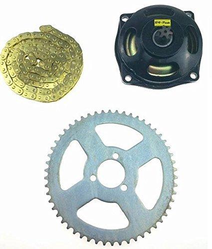 Kupplungsglocke 6 Zähne T8F + 58 Kette T8F Gold + 54 Ritzel T8F - Pocketbike Mini Cross 49 ccm Dirtbike ATV mini Quad
