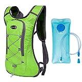 Lixada Kleiner Fahrradrucksack Hydration Rucksack mit 2L Wasserblase, für Wandern Klettern, Fahrradfahren, Laufsport, Camping Sportrucksack Atmungsaktiver Ultraleichter Fahrrad Rücksack