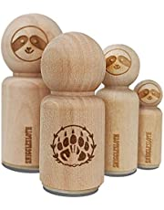 Druid Bear Claw Hand Print Rubber Stamp for Stamping Crafting Planners - 1/2 Inch Mini