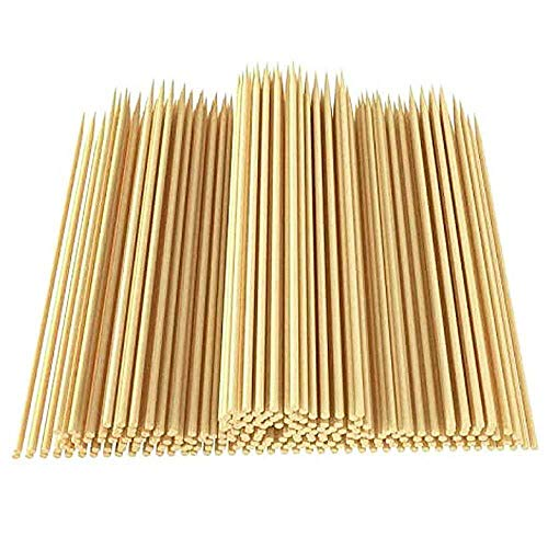 12 inch Natural Bamboo Skewers for BBQ,Φ=4mm,(100 PCS) Appetiser,Fruit,Cocktail,Kabob,Chocolate Fountain,Grilling,Barbecue,Kitchen,Crafting and Party.