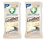 2 XGreen Shield Conditioning Leather Surface Wipes 50 Pack - Extra Large Wipes by Green Shield