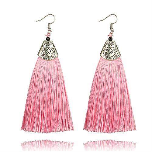 WANG PEI - Pendientes para mujer, estilo bohemio vintage, color rosa