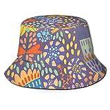 Sombrero de cubo de tela de sarga de poliéster, rebanadas coloridas de color naranja tropical arco iris Funful Home, Sun Wide Brim Cap