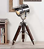 Classical Vintage Designer's Spotlight with Table Lamp Tripod