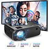 Bomaker Wi-Fi Mini Projector, Upgraded 6000 Lux, Full HD 1080P Supported, Wireless Screen