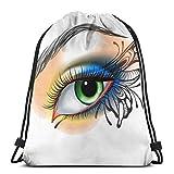 NPNP Bolsas con cordón Mochila Maquillaje de Ojos Wing Sackpack Totalizador para Almacenamiento Deportivo Calzado Organizador Baloncesto Yoga Adultos