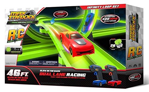 Max Traxxx R/C Award-Winning High-Speed Remote Control Infinity Loop Track Set
