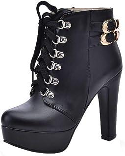 Melady Women Fashion Martin Boots Heels with Platform