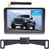 DoHonest HD 1080P Digital Wireless Backup Camera Kit, Stable Signal 5'' Monitor & Rear View Camera for...