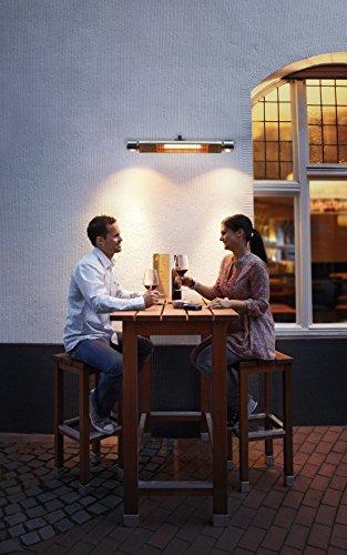 AEG Infrarot-Heizstrahler IR Premium Plus 2000 W mit Halogenspots, hocheffiziente Qualitäts-Goldröhre, nicht-rostend für Terrasse, Garten, Balkon, Gastronomie, 229948 - 5