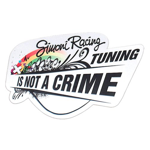 Simoni Racing SCS/Bow Aufkleber \'Tuning is Not A Crime\' 150 x 100 mm
