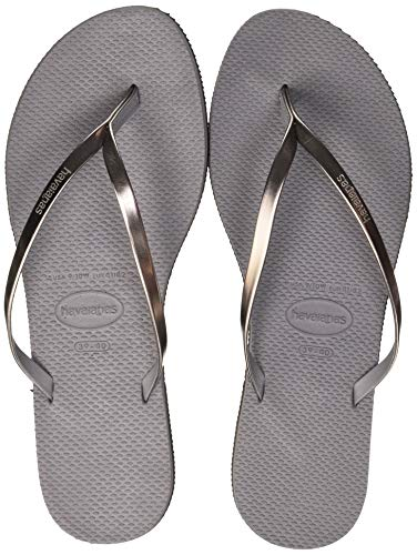 Havaianas You Metallic, Sandalias para Mujer, Plateado (Steel Grey), 35/36 EU