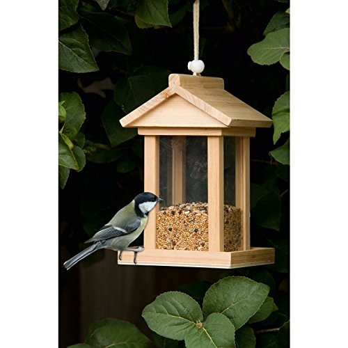 Holz Vogelhäuschen Futterstation Vogelfutterhäuschen Vogelfutter Haus Futterhaus Futterspender