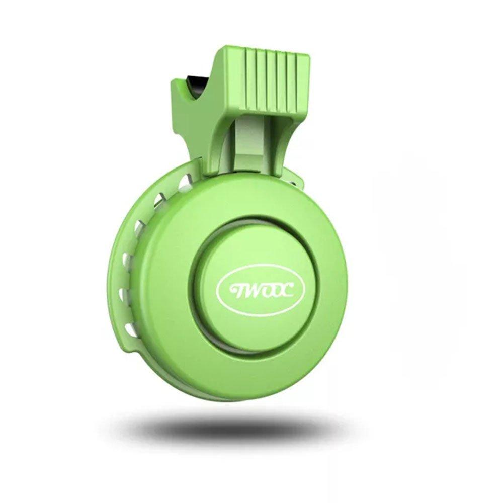 Bikeeco - Timbre eléctrico para bicicleta (120 dB, carga USB, para manillar de bicicleta, con alarma, resistente al agua, IP65, 22 – 31,8 mm), verde: Amazon.es: Deportes y aire libre