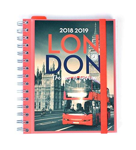 Grupo Erik Editores - Agenda escolar London 2018/2019 Semana vista, 15,5 x 19 cm