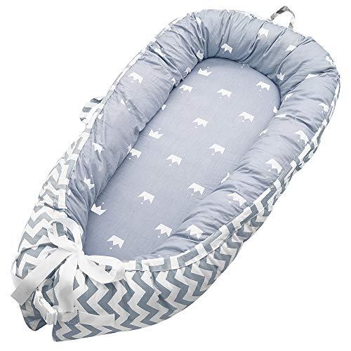 Babybedje, draagbaar Super zacht en ademend pasgeboren baby Bassinet, afneembare Cover Baby Bionic Bed, Premium kwaliteit en groot formaat (0-24 maanden), 100% katoen wieg bed voor slaapkamer reizen Type#2
