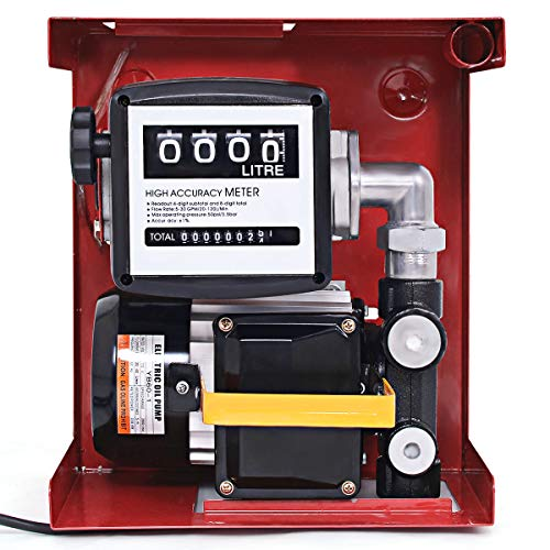 Goplus 110V Electric Diesel Fuel Transfer Pump with Hose & Nozzle