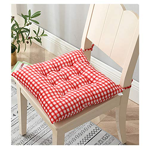 feilai Cojín cuadrado de poliéster para silla de oficina, 40 x 40 cm, acolchado suave, para decoración del hogar, oficina o comedor (color: 6)