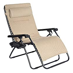 padded zero gravity recliner
