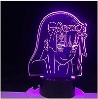 3Dイリュージョンナイトライト アニメの女の子 スマートタッチ キッズ3DLEDナイトライトファッション7色段階的に変化するスマートタッチスイッチUSBテーブルランプホリデークリスマスおもちゃギフト家の装飾
