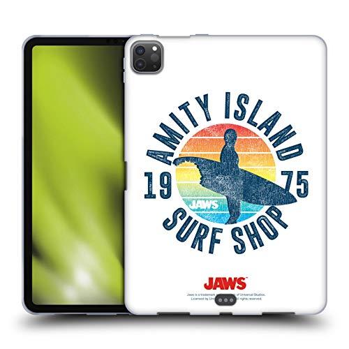 Head Case Designs Oficial Jaws Tienda de Surf I Arte Clave Carcasa de Gel de Silicona Compatible con Apple iPad Pro 11 (2020)