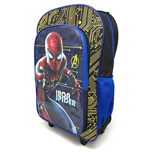 Children's Iron Spider Spiderman Character Luggage Deluxe Wheeled Trolley Backpack Suitcase Cabin Bag School