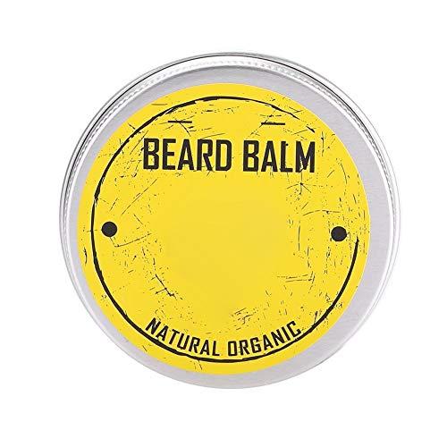 Acondicionador de barba, bálsamo suavizante para bigote, cera hidratante para barba, suave orgánico para sellar el cabello, hidratar, suavizar