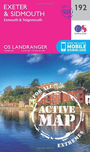 Landranger Active (192) Exeter & Sidmouth, Exmouth & Teignmouth (OS Landranger Active Map)