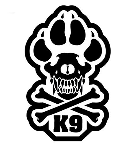 MilSpec Monkey K9 Vinyl Decal (SWAT (Black))