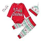 Fossen My First Christmas Disfraz Navidad Bebe niño niña Ropa de Conjunto...