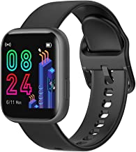 MmNote Watches DR88 Smart Watch IP67 2.5D Touch Screen Sport Bluetooth Fitness Sleep Monitor Black