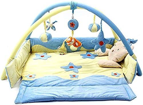 LGZW Kriechende P gogische Spiel-Matte Der Kinder, Baby-p gogische Spielwaren-Bereichsteppich-Schlaf-Baumwollmatte rutschfeste Kriechende Matte, Früherziehungsteppich