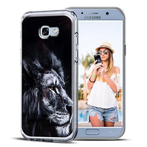 Conie PC28744 Picture Hülle Kompatibel mit Samsung Galaxy A5 2017 (A520), Rückschale mit Motiven Silikon TPU Backcover für Galaxy A5 2017 (A520) Bumper Motiv Löwe