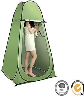 プライバシーテントをポップアップ - インスタントポータブル屋外シャワーテント、キャンプトイレ、更衣室 - 簡単セットアップ、キャリーバッグで折りたたみ式。