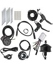 Kit de conversión de Bicicleta eléctrica, Kit de Motor de buje de 36 V y 250 W con medidor de Pantalla KT-900S para Rueda de 24 Pulgadas y 12 G