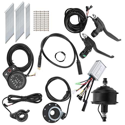 Juego de conversión de Bicicleta eléctrica 36V 250W Motor de Cubo Kit de conversión de Bicicleta eléctrica con medidor de Pantalla KT-900S para Rueda de 24 Pulgadas 12G(Rear Freewheel Motor)