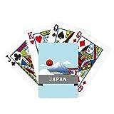 Japón Monte Red Sun Rail Train Temple Poker Jugando Magic Card Fun Juego de mesa