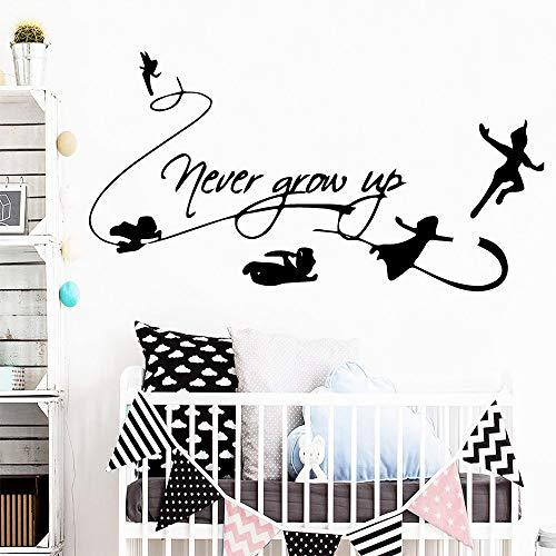 Niemals aufwachsen Kunst Vinyl Wandaufkleber für Wohnzimmer Home Dekoration Tapete Kaffee M 28cm x 53cm