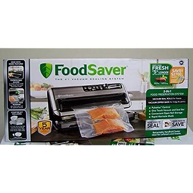 FoodSaver FM5480 2-in-1 Food Preservation System, Black/Silver