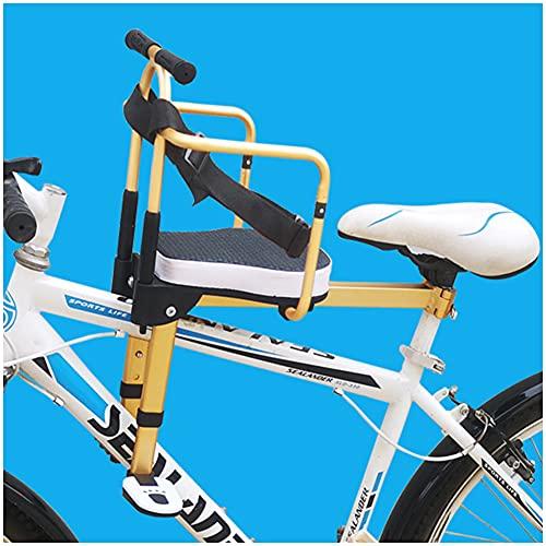GJXJY Asiento Infantil para Bicicleta, Plegable Silla Delantera para Niños para Bicicleta con Pedal y Mango Compatible con Todas Las MTB Adultos