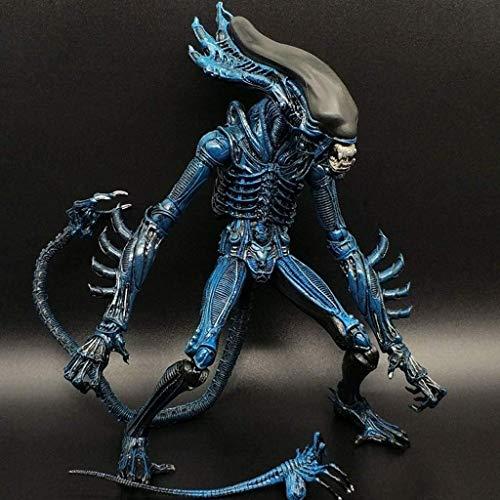 HOOPOO Figura Extranjero: 7 Pulgadas Figura de acción de la Escala del Reptil Extranjero Guerrero colector for Aficionados Extranjeros de Aliens Vs Predator