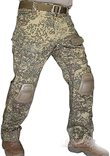 WorldShopping4U Militaire de Armée de Tournage EDR Hommes Gen3 G3 Combat Pantalons Pantalon avec Genou Coussinet pour Airsoft