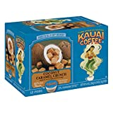 Kauai Coffee Single Serve Pods, Coconut Caramel Crunch Flavor – 100% Arabica Coffee from Hawaii's Largest Coffee Grower, Compatible with Keurig K-Cup Brewers - 72 Count