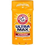 Arm & Hammer Ultramax Anti-Perspirant Deodorant, Active Sport,White, 2.6 Ounce (Pack of 6)